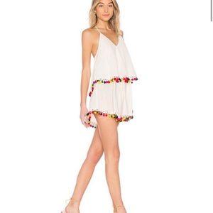 Tularosa Pom Pom Mini Dress